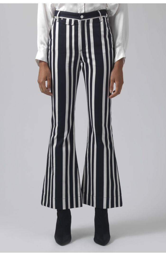 Marina printed organic cotton trousers