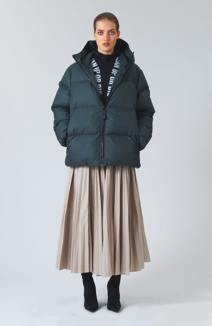 Alistair Recycled Down Green Puffer Jacket