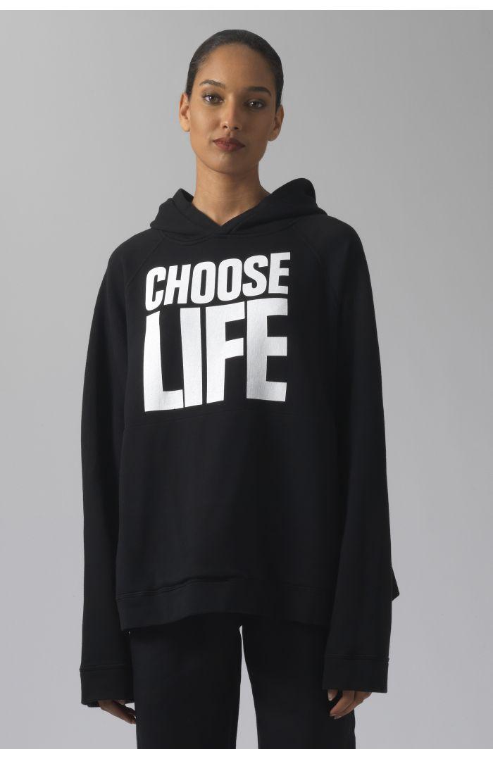 Rick black organic cotton hoodie