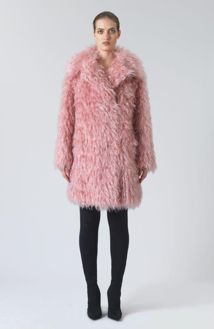 Samantha Pink Mohair Coat
