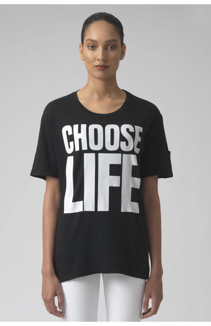 Choose life black organic cotton t-shirt