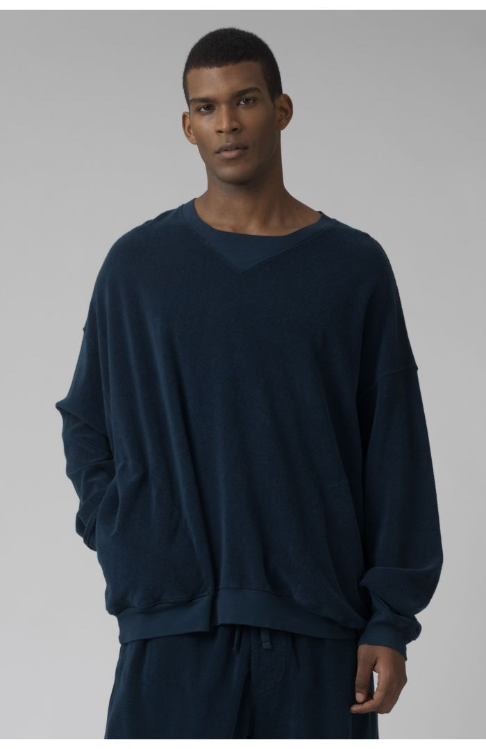 Vince TEAL French Terry sweater