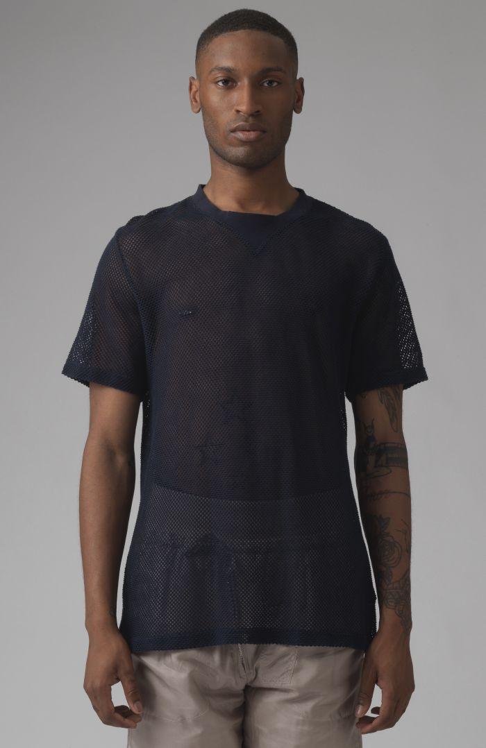 Ivan navy mesh t-shirt