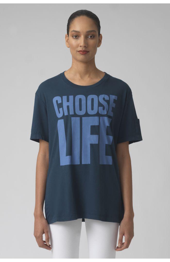 Choose life TEAL Organic cotton t-shirt