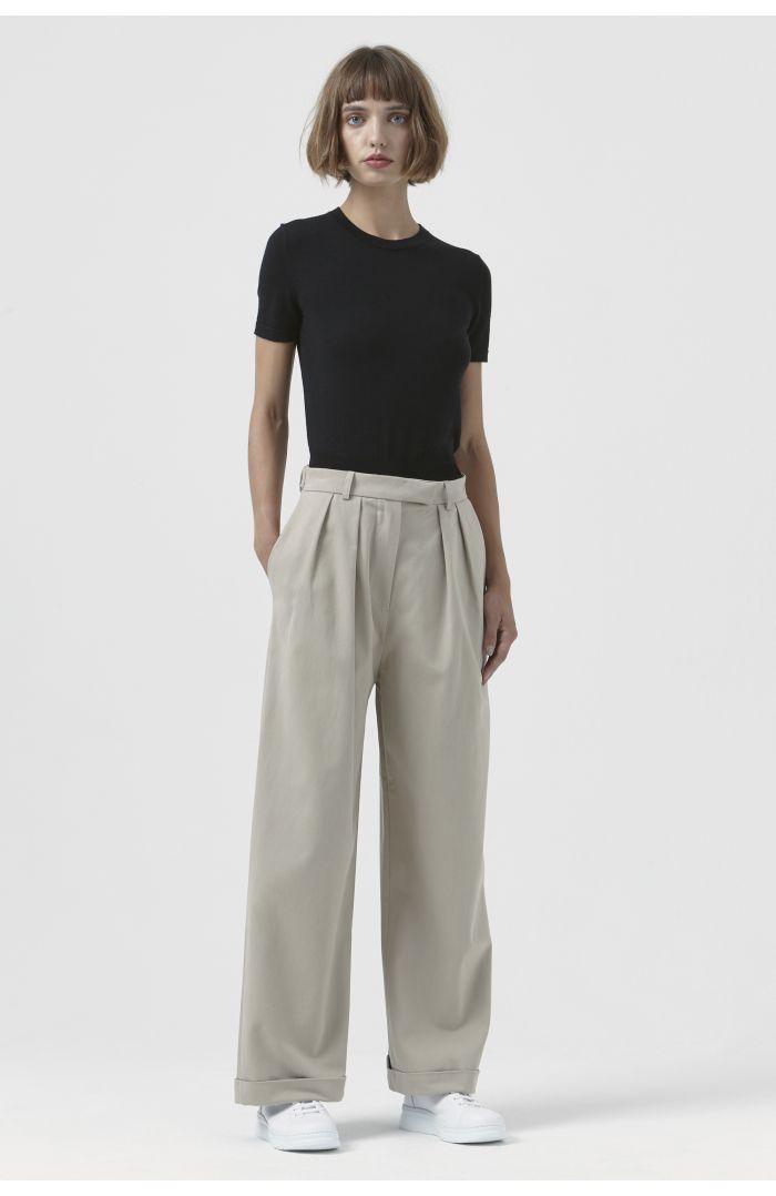 Camilla Sand Organic Cotton Trousers