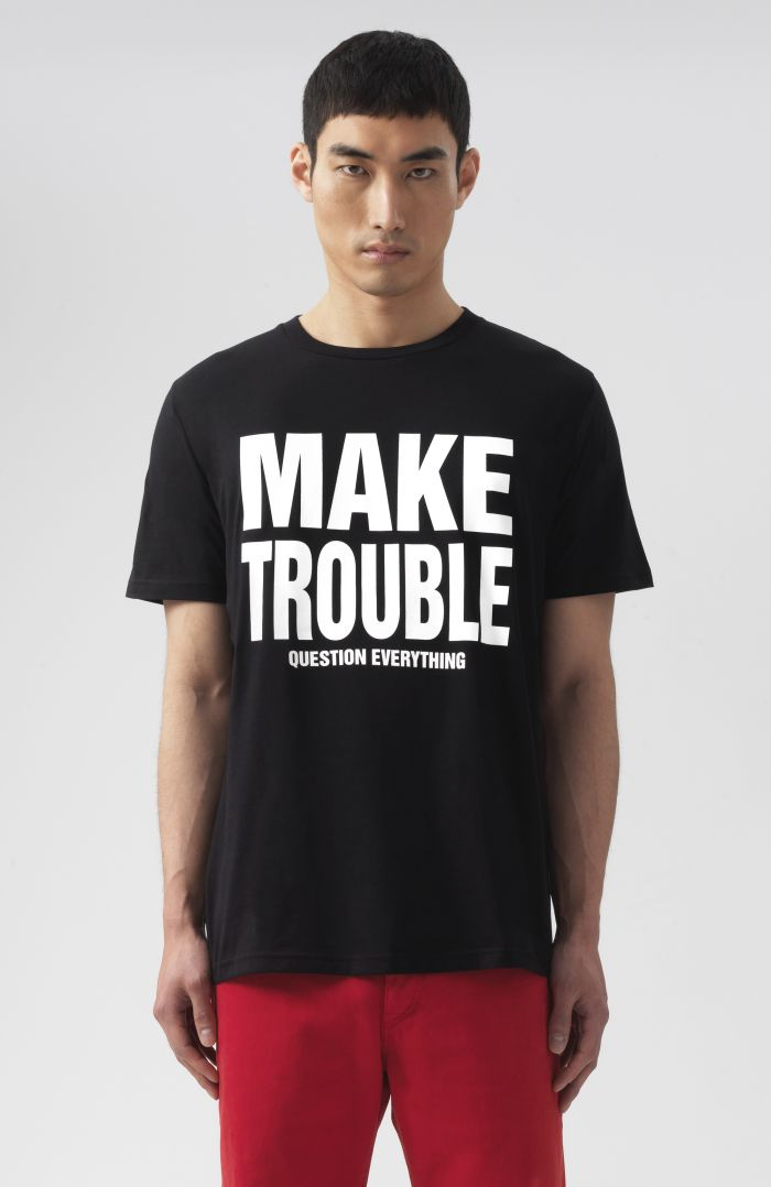 Make Trouble Question Everything short Sleeves T-Shirt