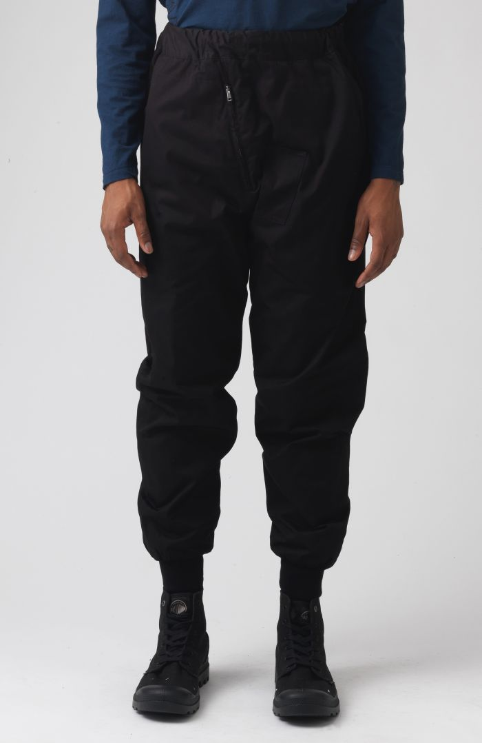 Adamo Black organic cotton trousers