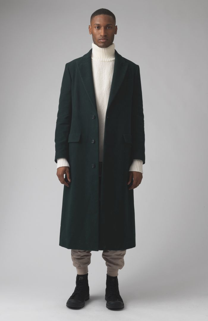 Darwall Green Organic cotton coat