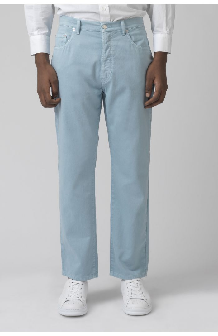 TERRY Organic cotton LIGHT WASH DENIM