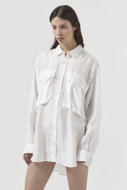 Alex White Silk Shirt