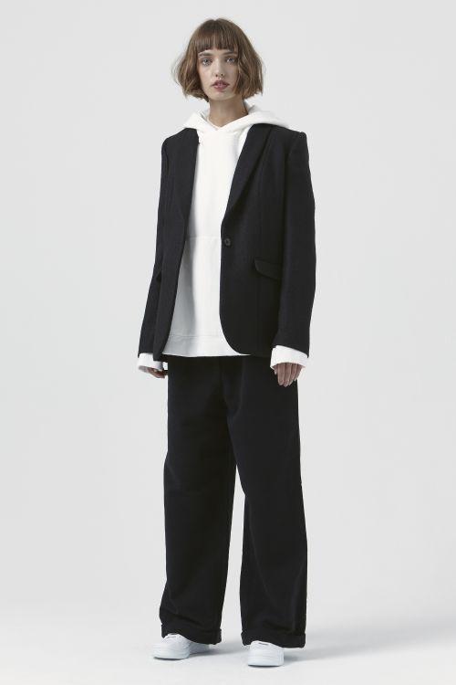 Sofia Black Wool Blazer