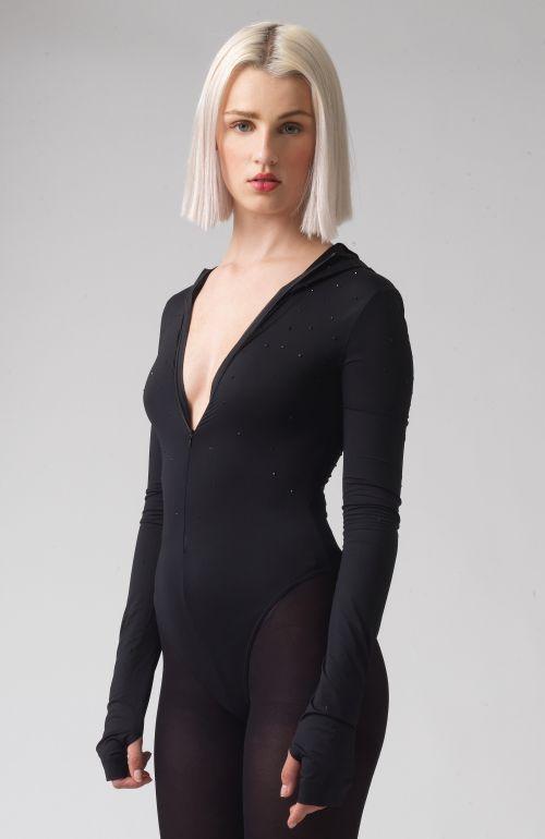Hetty Black Recycled Polyester Swarovski Body