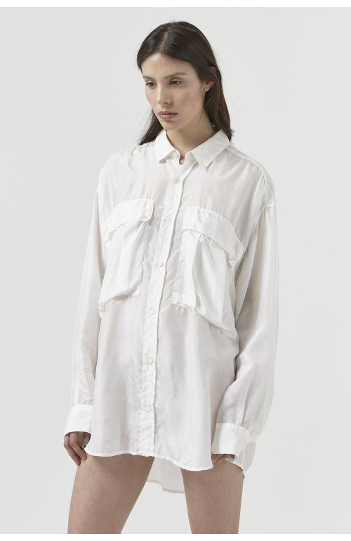 Alex White Silk Shirt