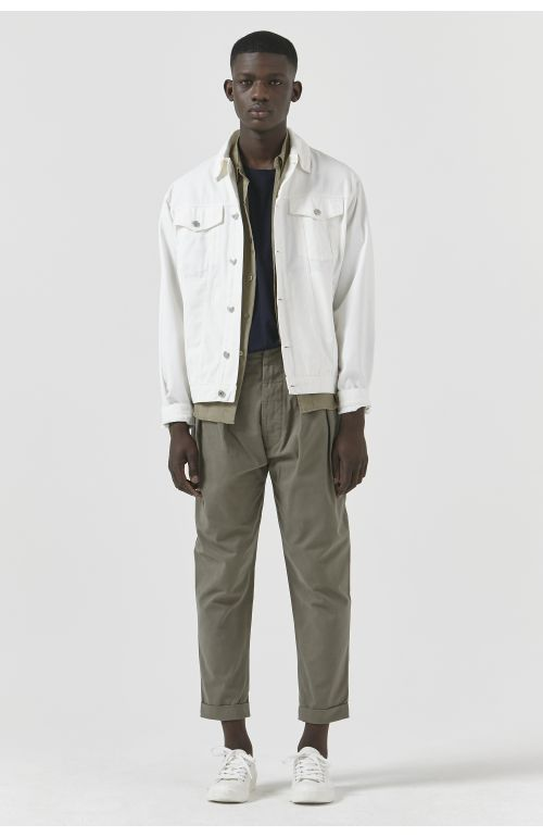 TED WHITE DRILL JACKET