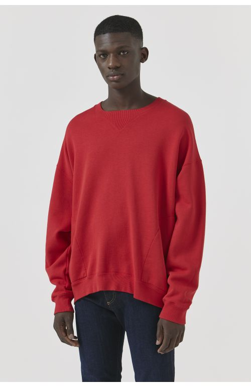 Vince Red Organic Cotton Sweatshirt