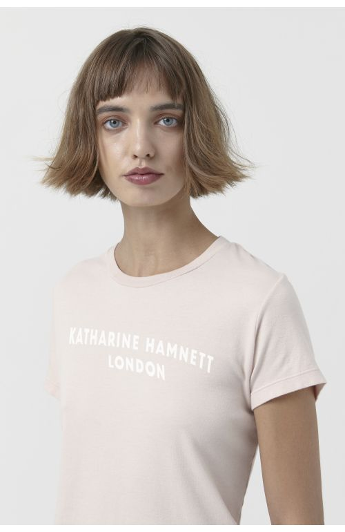 Katie light pink organic cotton t-shirt