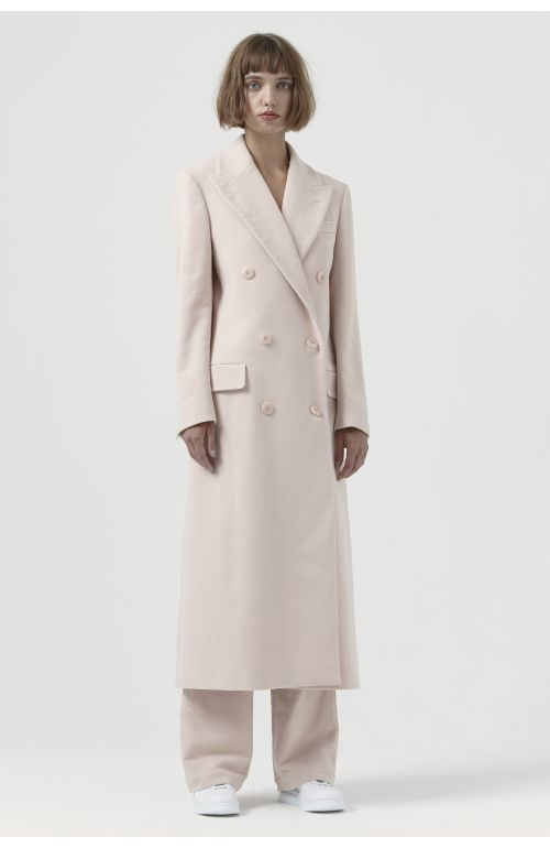Simona Pink Organic Cotton Coat