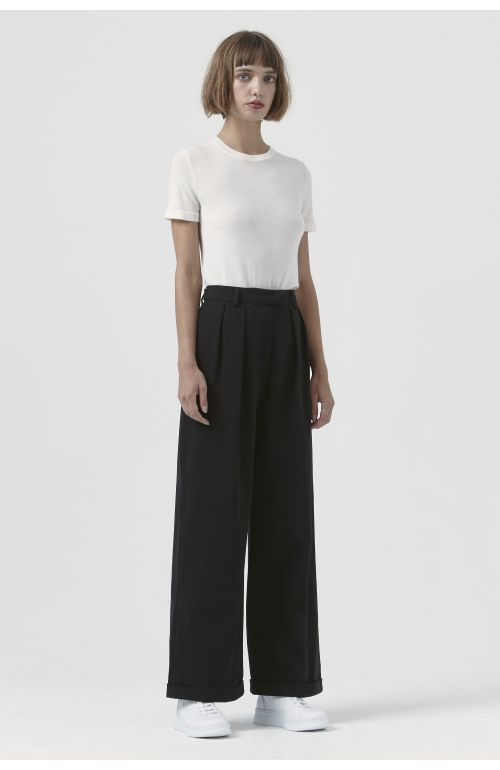 Camilla Black Organic Cotton Trousers