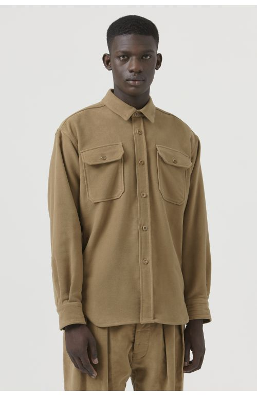 Dante Camel Organic Cotton Shirt