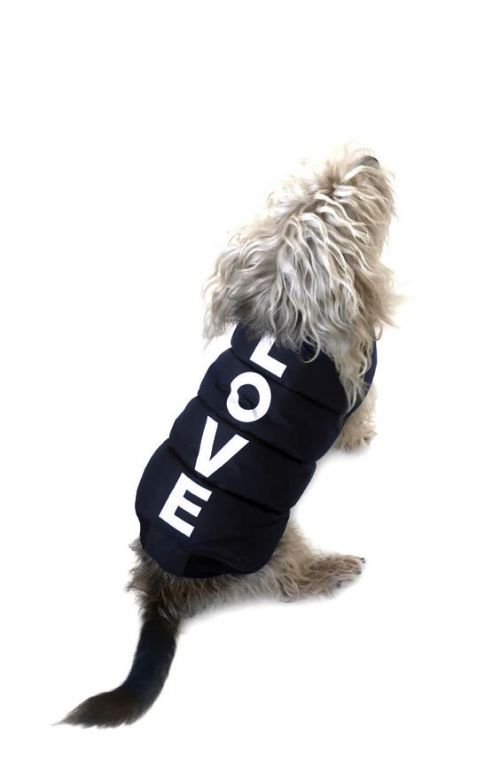 ARTURO LOVE NAVY DOG COAT
