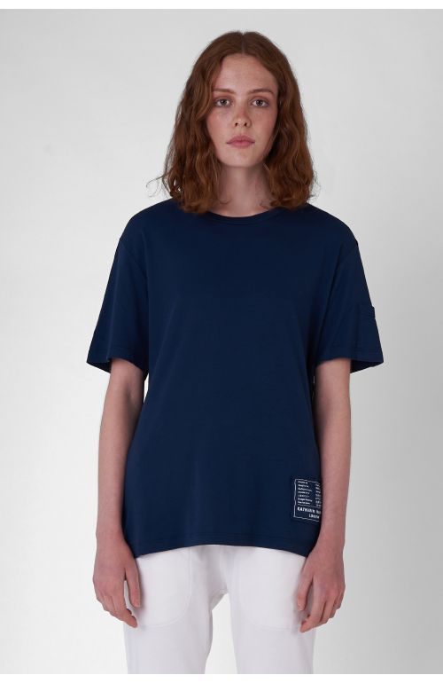 BOX-LOGO ORGANIC COTTON NAVY T-SHIRT