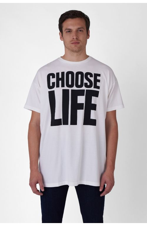 CHOOSE LIFE ORGANIC COTTON OVERSIZED T-SHIRT
