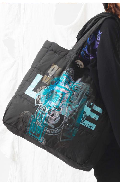 Love Upcycled Puffer Bag
