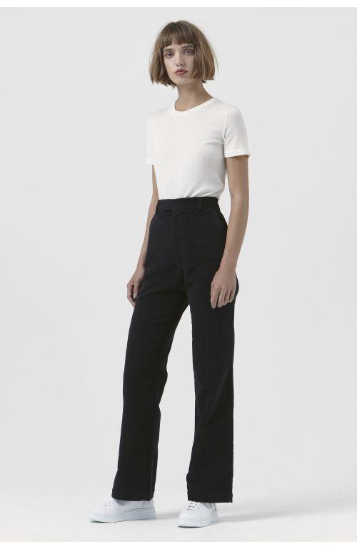 Adriana Black Organic Cotton Trousers