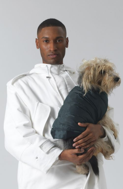 Arturo Recycled Polyester and Down Dog Coat