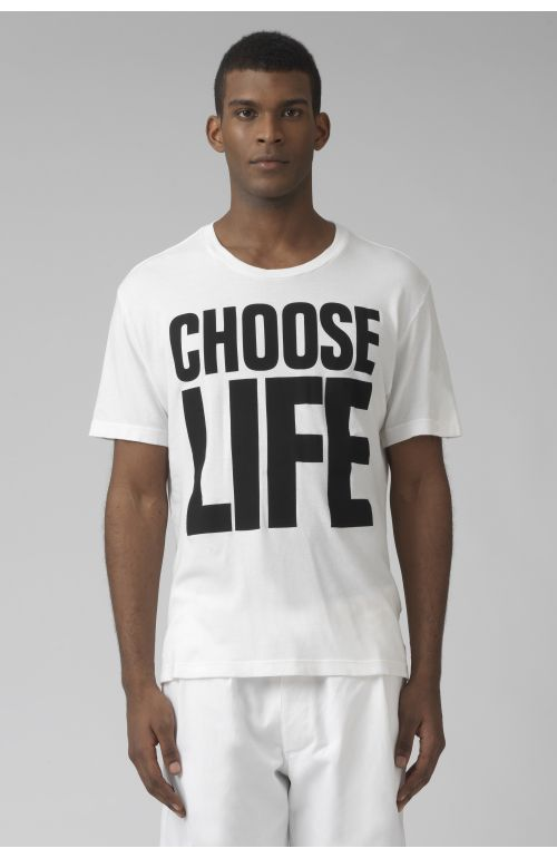 CHOOSE LIFE WHITE ORGANIC COTTON T-SHIRT