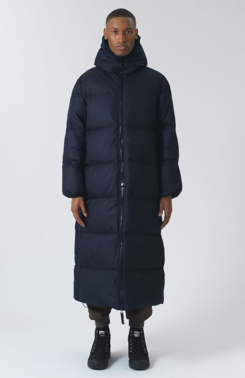 Claude Recycled Polyester Navy Puffer Jacket