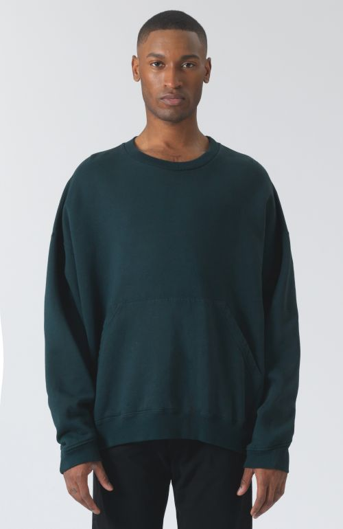 Joey logo green organic cotton sweatshirt