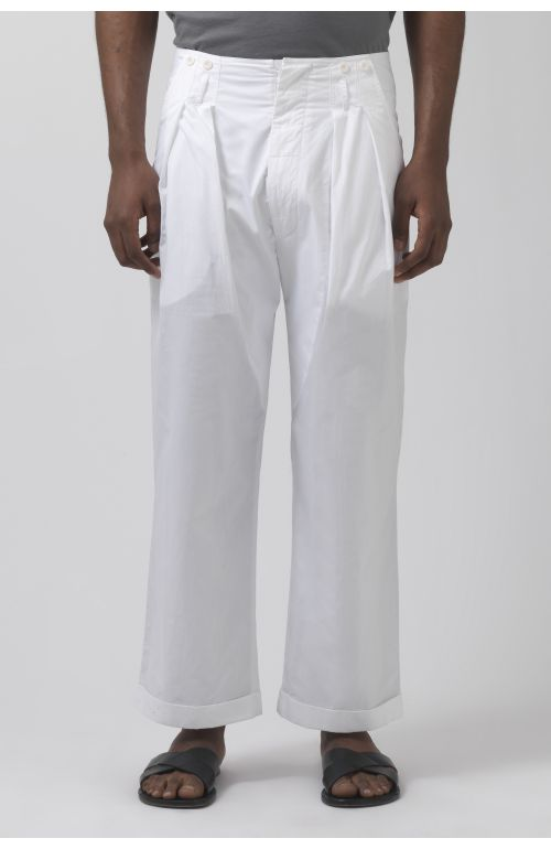 Ace white organic cotton trousers