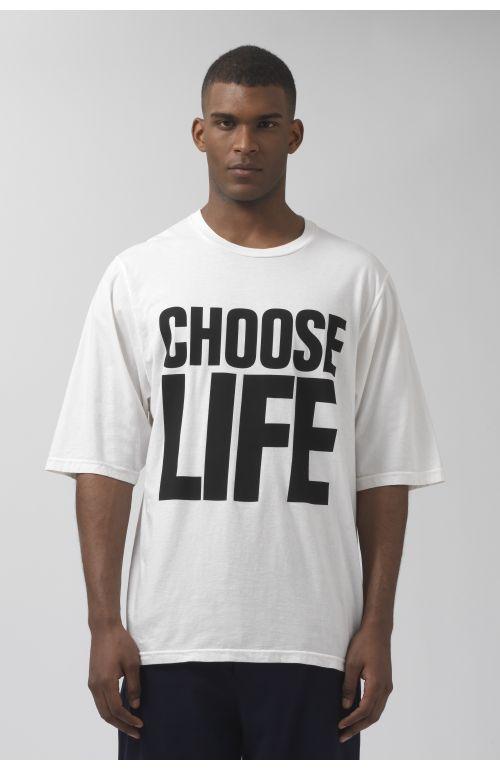 CHOOSE LIFE OVERSIZED ORGANIC COTTON T-SHIRT