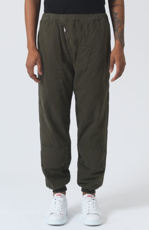 Adam Khaki Organic Cotton Trousers