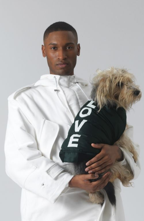 ARTURO LOVE GREEN DOG COAT