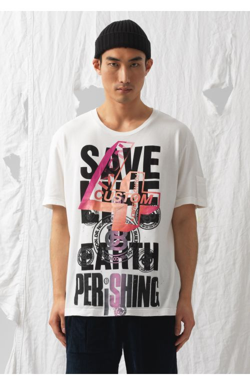 Save Life on Earth Upcycled T-Shirt