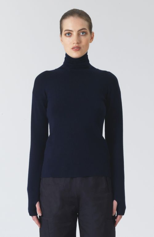 Myrtle Navy Cashmere and Wool Jumper