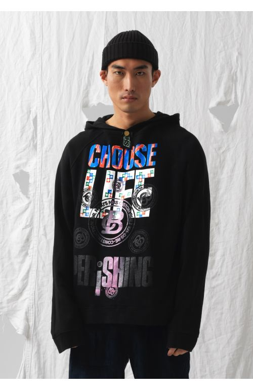 Choose Life Upcycled Sweatshirt