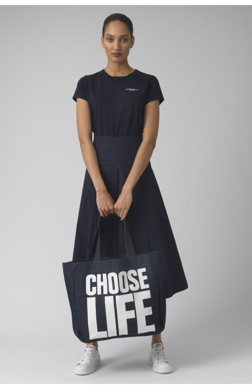 CHOOSE LIFE rinse wash Organic cotton bag
