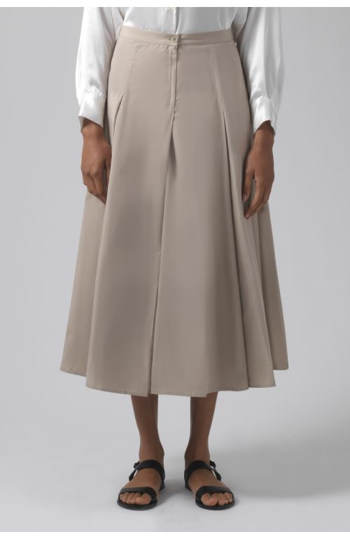 Rose sand organic cotton skirt