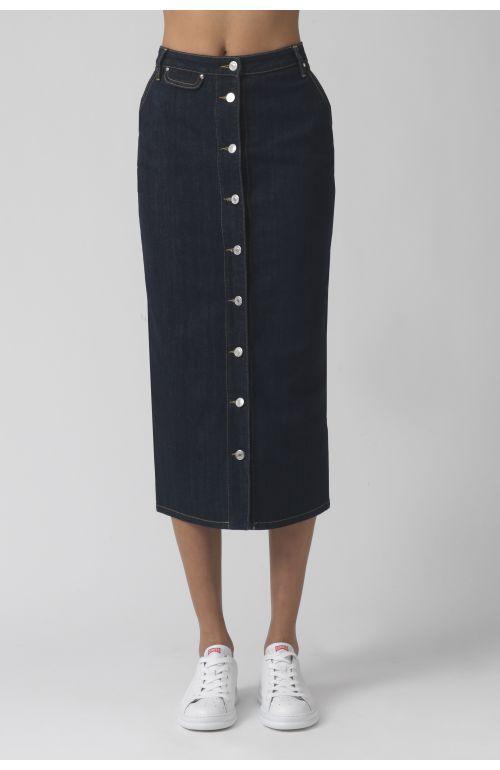 Janice Dark Organic Cotton Skirt