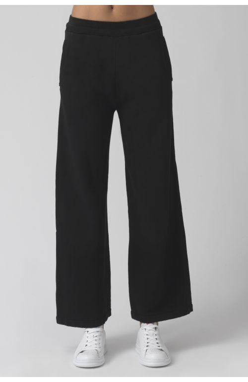 Vale Black Organic Cotton Trackpants