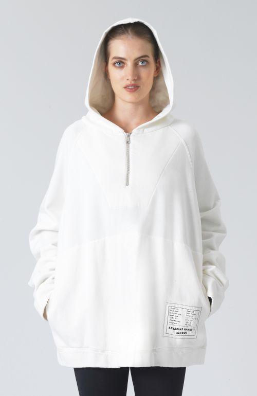 Rico White Organic Cotton Hoodie
