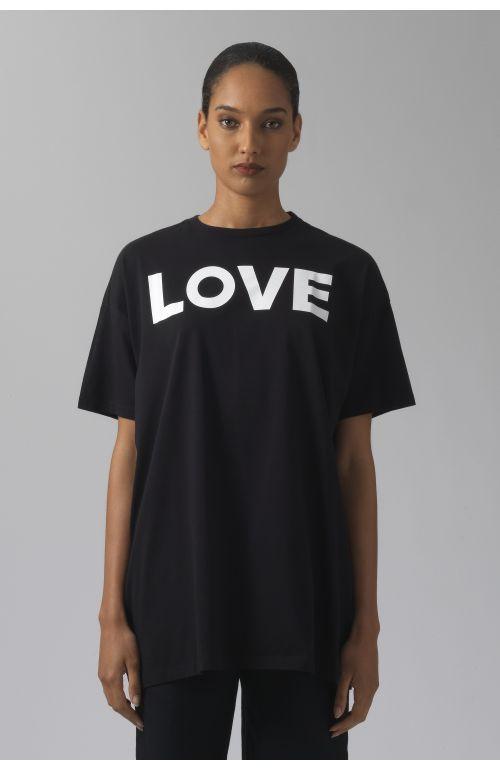 LOVE BLACK ORGANIC COTTON T-SHIRT
