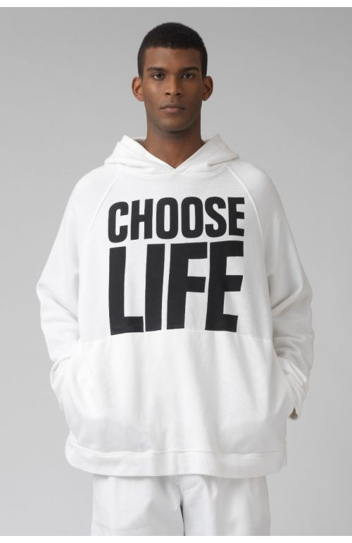 Rick choose life organic cotton hoodie