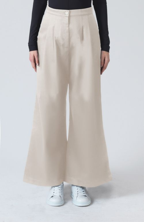 Ella stone organic cotton trousers