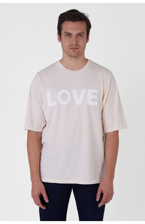 George light pink organic cotton t-shirt