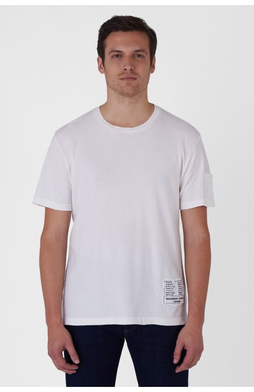 BOX-LOGO ORGANIC COTTON WHITE T-SHIRT