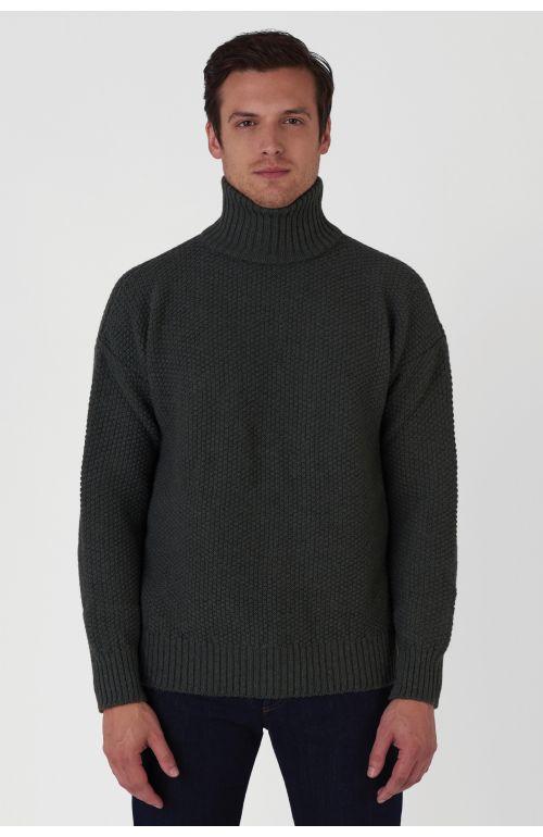 Oscar Khaki Wool Jumper